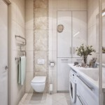 Small bathroom and discreet decoration of it