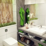 Small bathroom with a lot of decoration