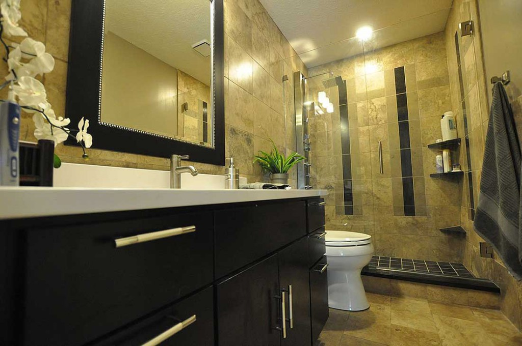 Built In Furniture In The Small Bathroom Lets You To Increase The Space