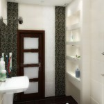 A lot of shelves with contents in a small bath don`t look littery