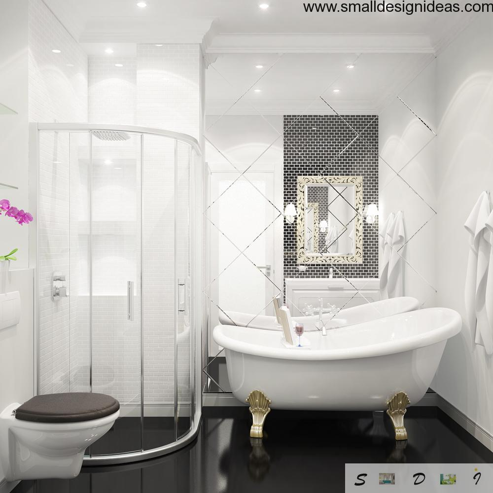 Spicy black&white contrast in the bathroom