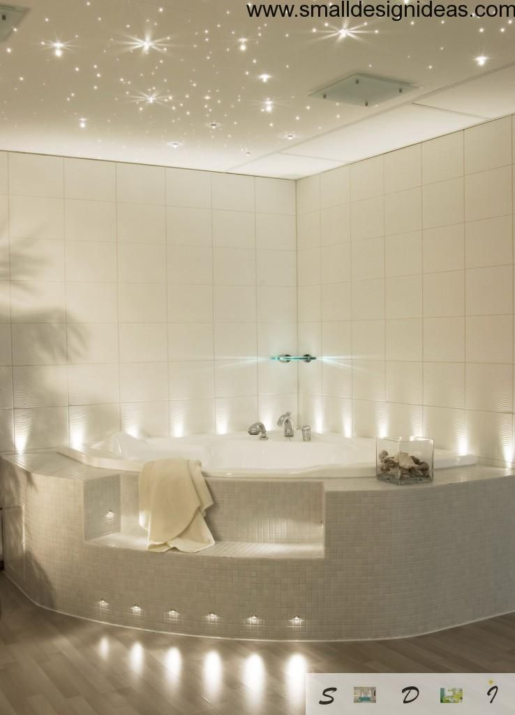 Modern bathroom backlight