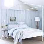 Monochromatic bedroom textile