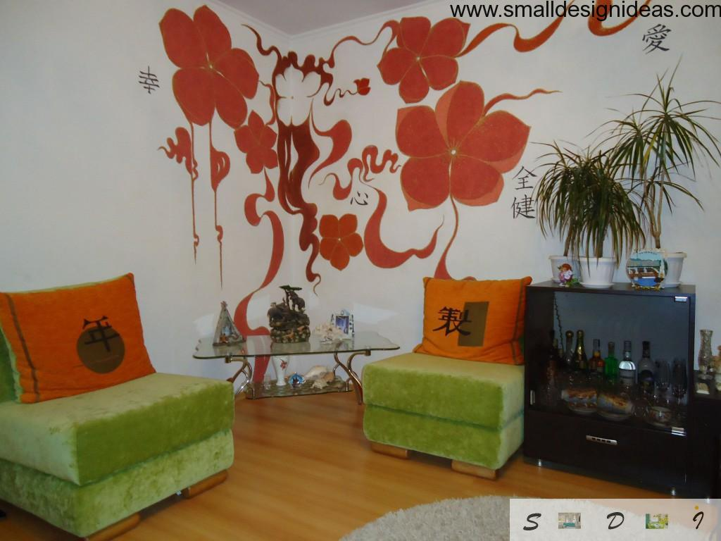 Painted walls in the lounge room