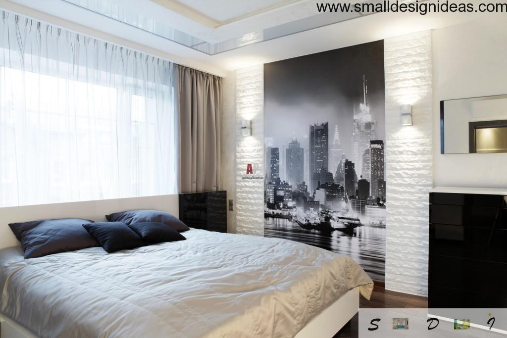 Black $ white photo wallpaper is a nice design idea 2015