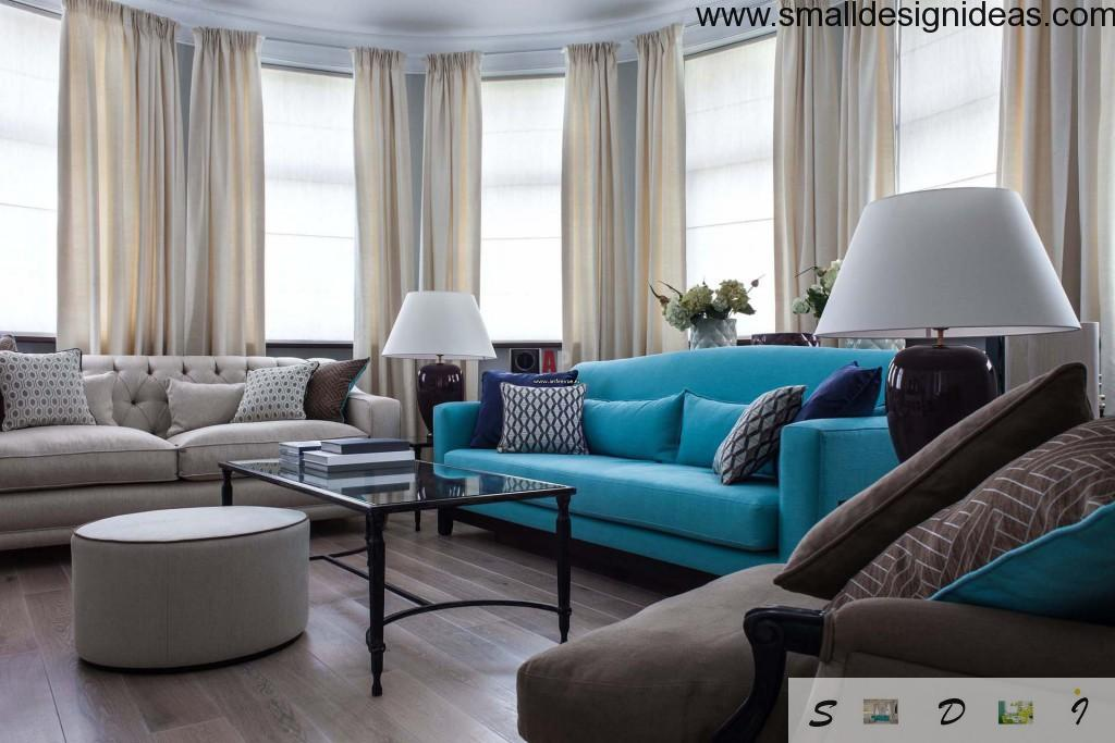 Turquoise design of lounge room 2015