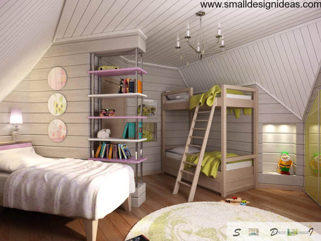White country interior style in bedroom