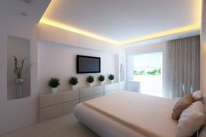 Plain but effective and modern bedroom in Modern Design of the Apartment