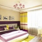 Bedroom full of light in a cheerful colors