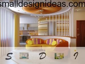 Cheerful orange mix in a living room design
