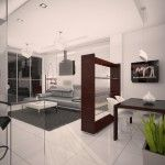 Complex interior design of the studio apartment