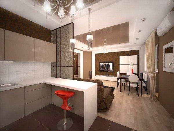 Дизайн проекты кухня-студия