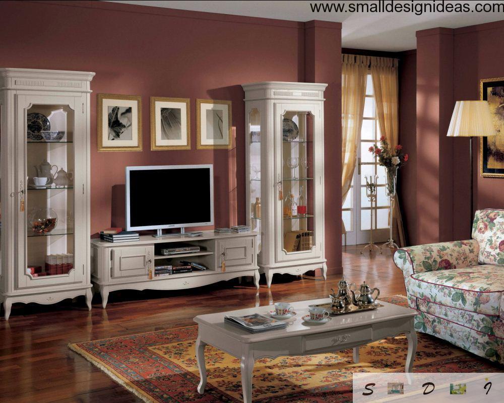 Bright living room vintage design
