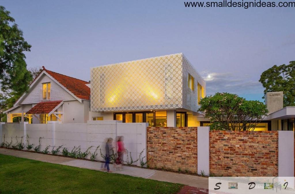 Lace facade minimalistic design: futuristic and courageous