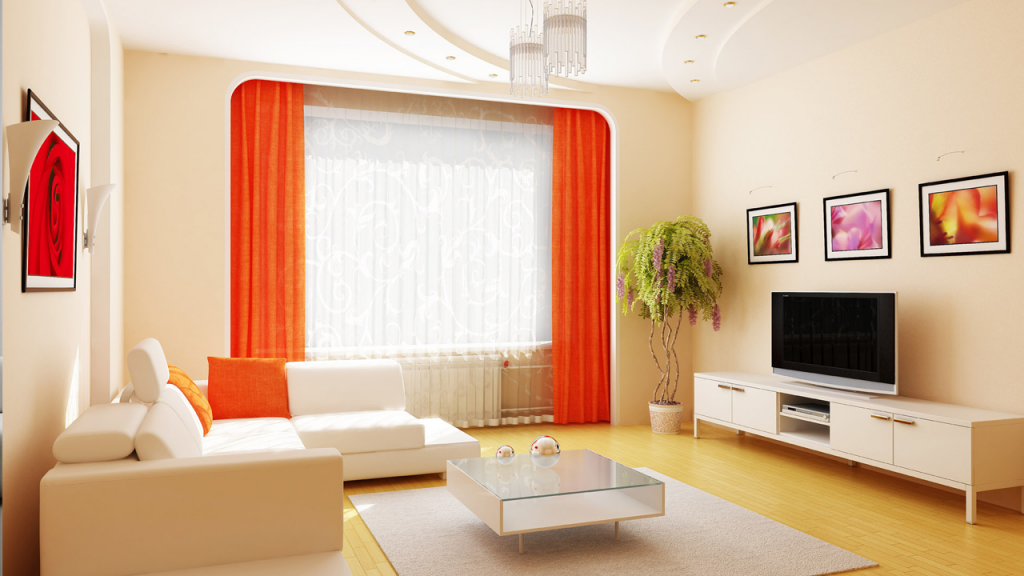 Bright retro minimalism for your living room 2015