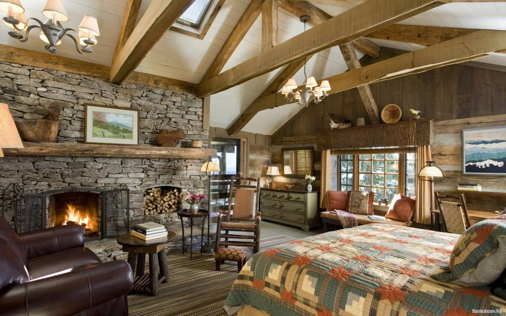 country style bedroom to locate the fireplace directly in this room   The heat of the fire will warm the soul and the body  and originally  decorated. Bold Country Style Bedroom Design