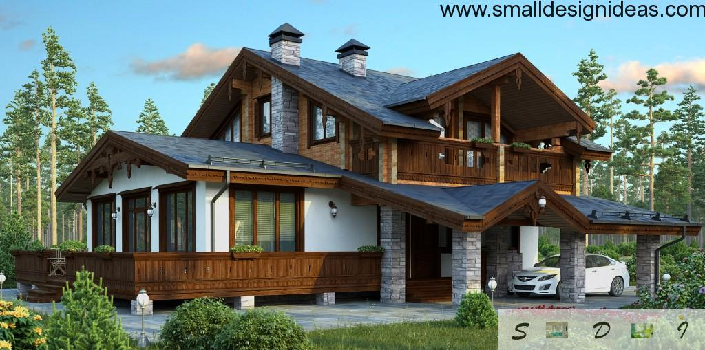 French country chalet style for the private suburban houses