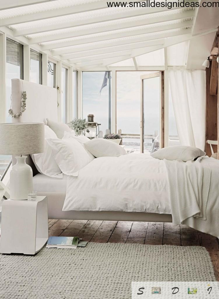 Modern white rustic country-style bedroom ideas