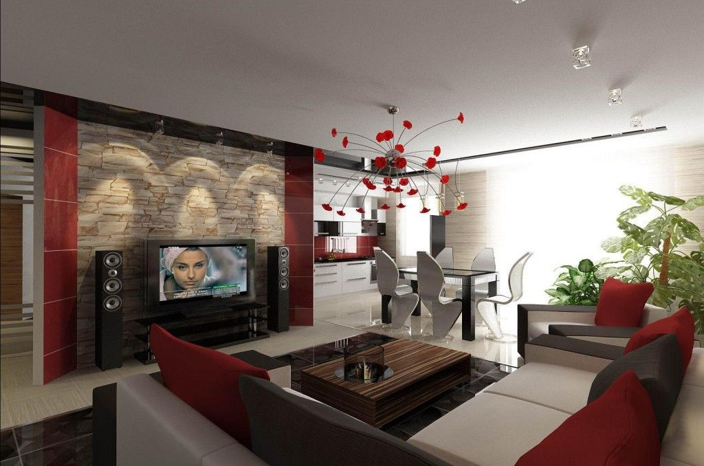 Nice spacious and colorful designed lounge