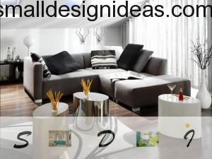 High-tech furniture in living room