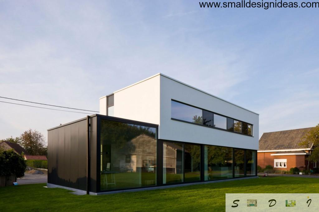 Vivid glass terrace facade minimastic ideas