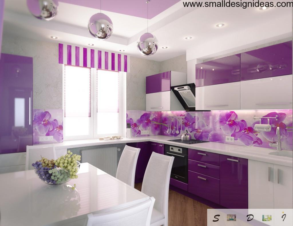 Purple kitchen. Modern trends
