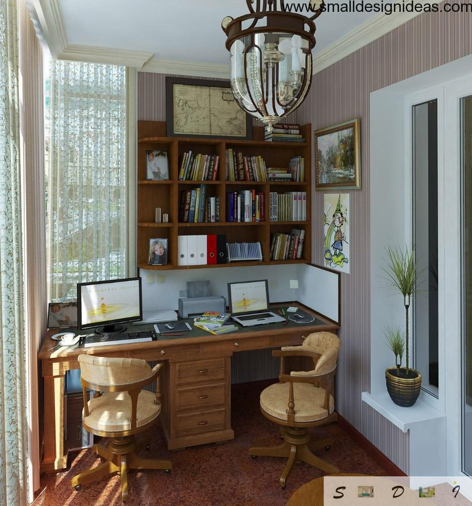 Home office right at the balcone can fit the most of requirements