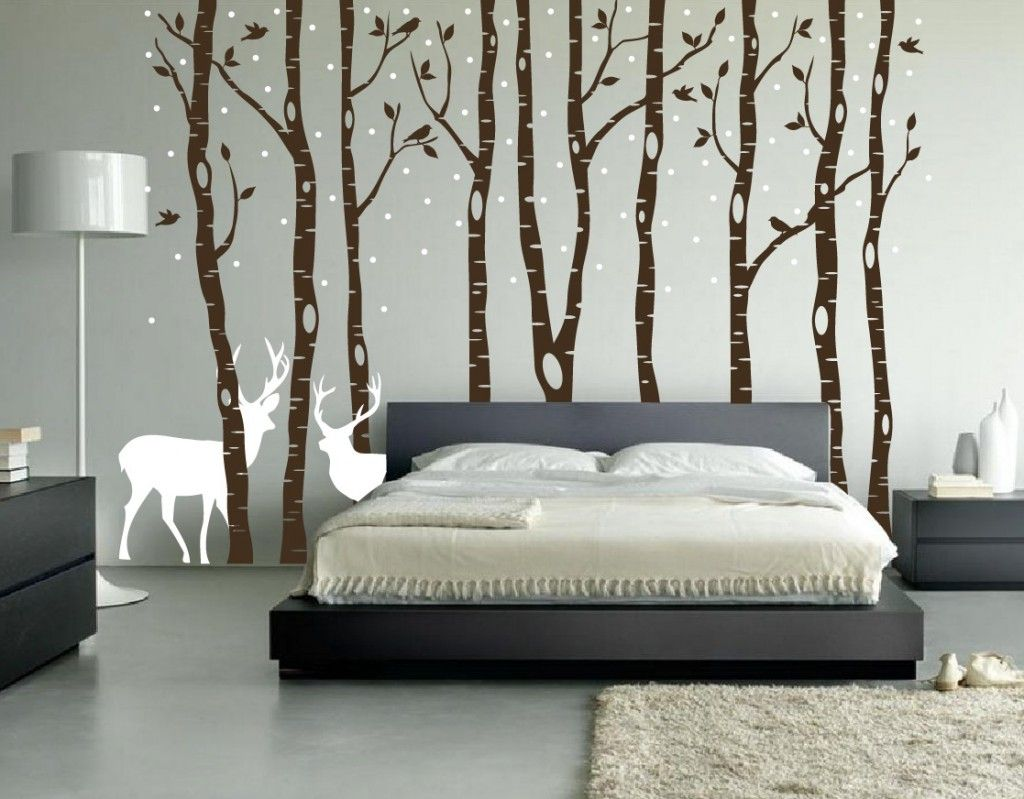 Bold country style bedroom design for Tree bedroom decor
