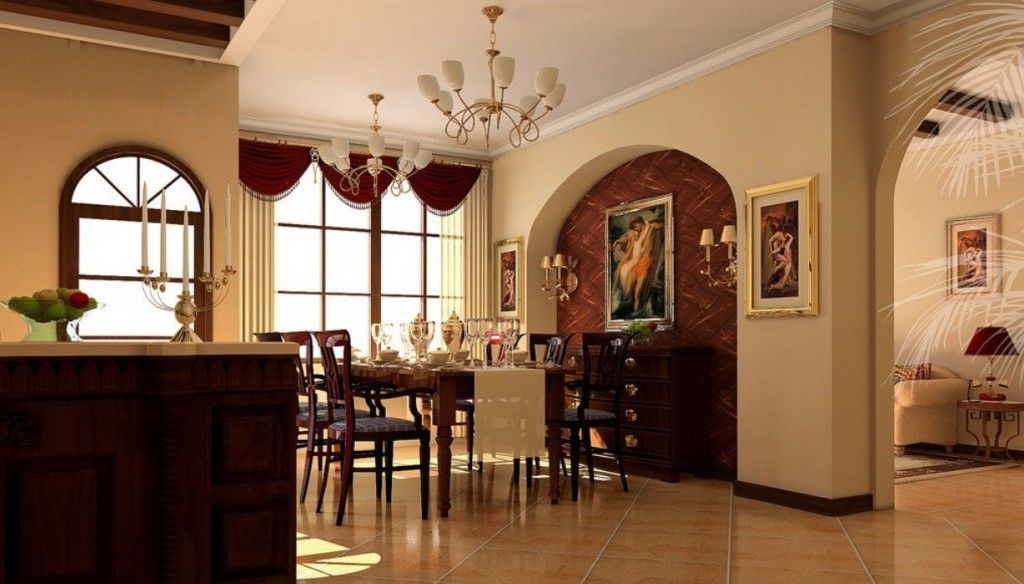 Dining Room in Art Nouveau Style