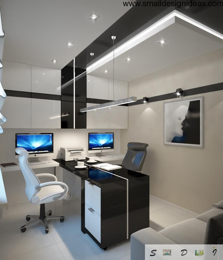 ideas work home. Cool Home Office Design. Design Ideas In The Hi-tech Style Work