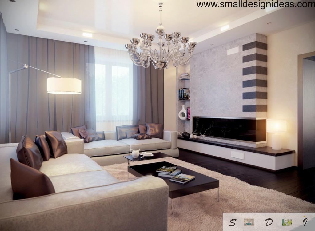 Romantic interior design of living room