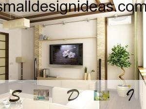 White sedative master design of the living room