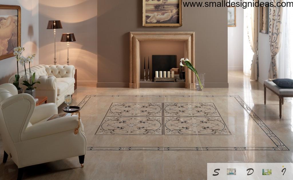 floor tiles in the living room
