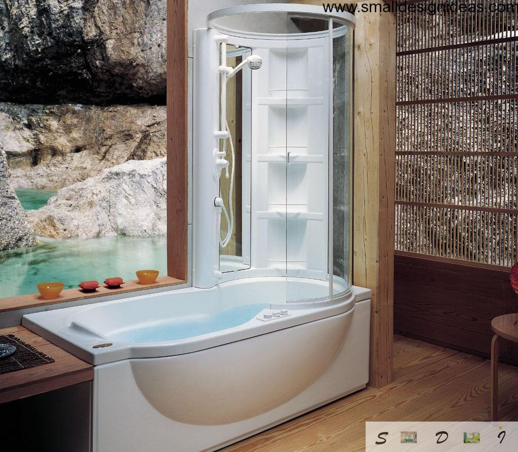 Combined shower and a bathtub