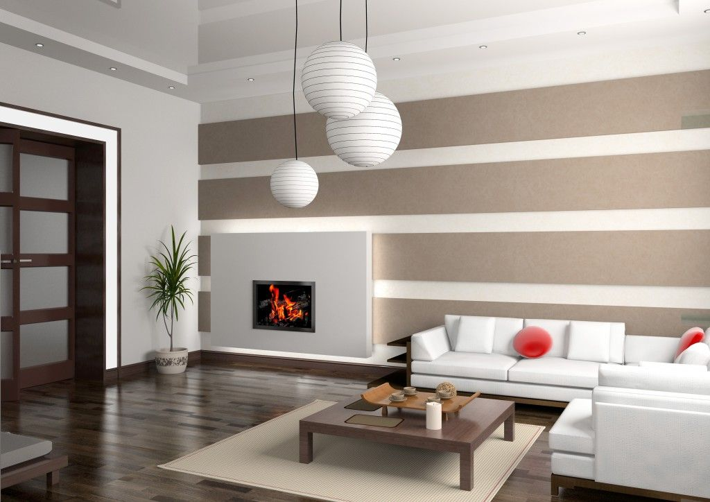 Line In Design : Modern interior of small living room