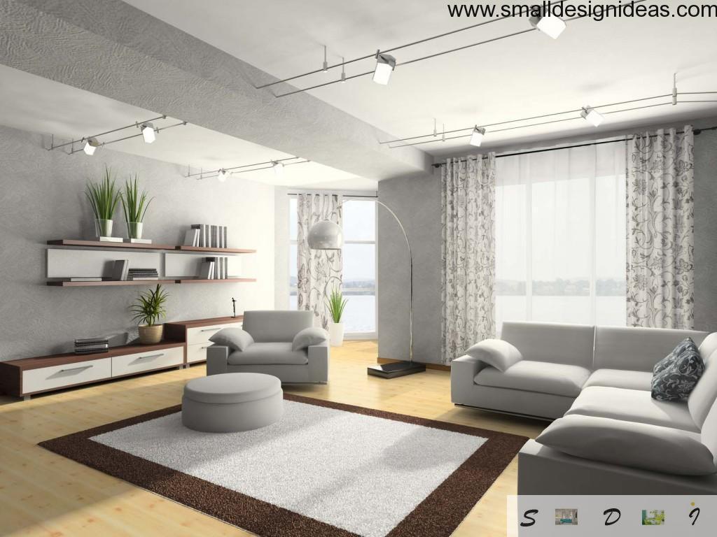 Gray tones in lounge interior