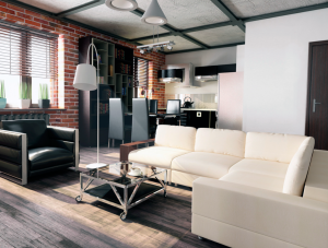 Combining of design styles emphasizes by different furniture