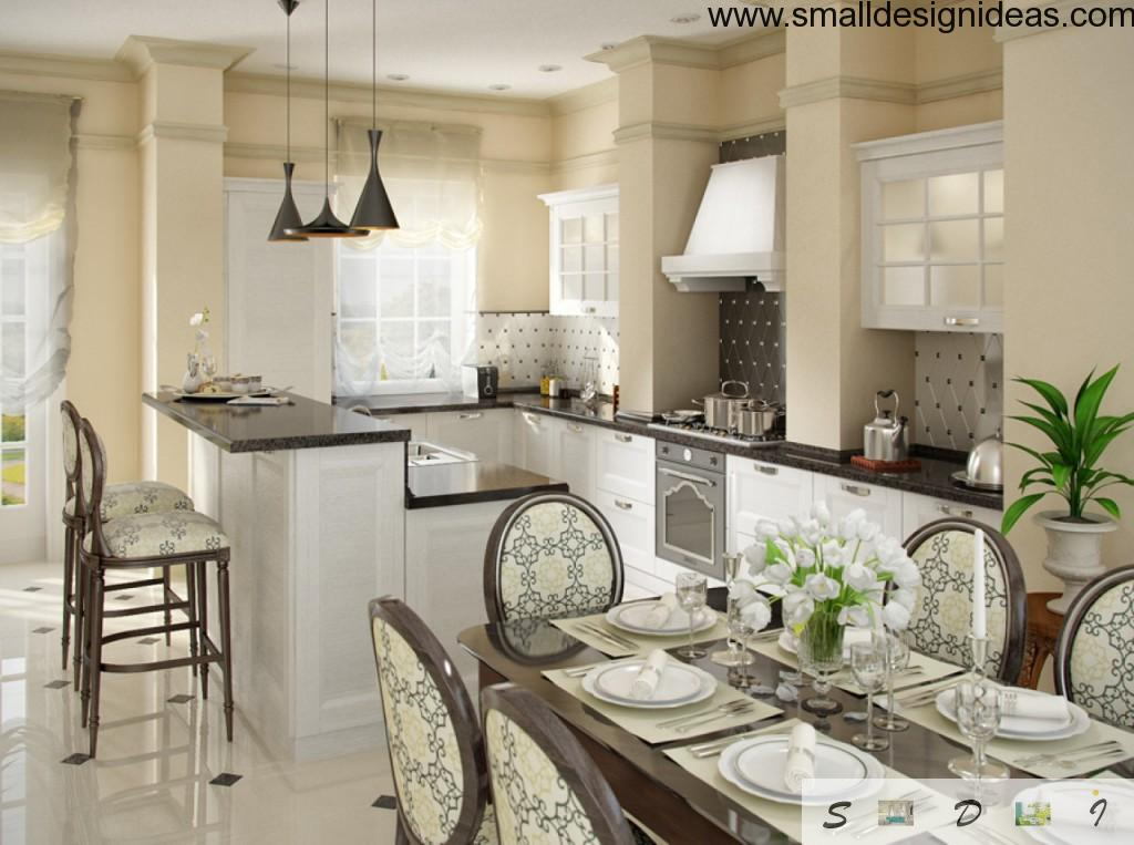 Spacious Kitchen in light colors of Modern style