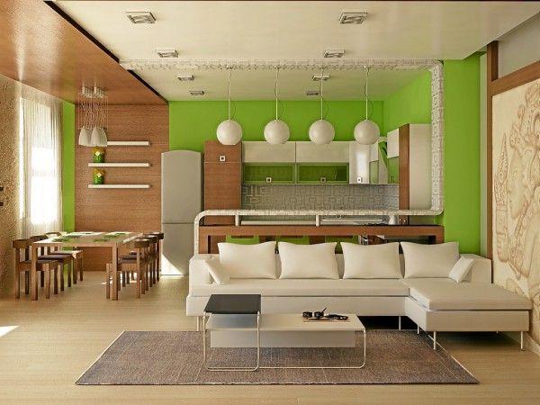 Зала кухня студия дизайн интерьера