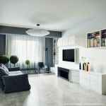White and pastel tones in neat universal designing