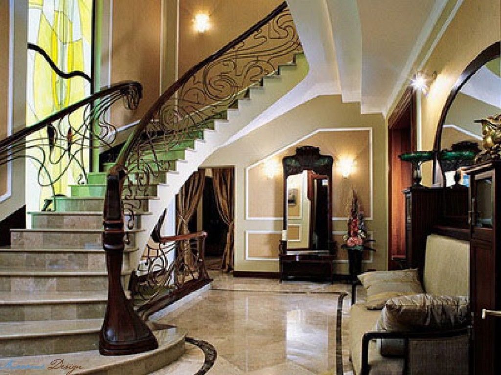 Metal Stairs In The Art Nouveau Interior Style Light Effective Modern Design