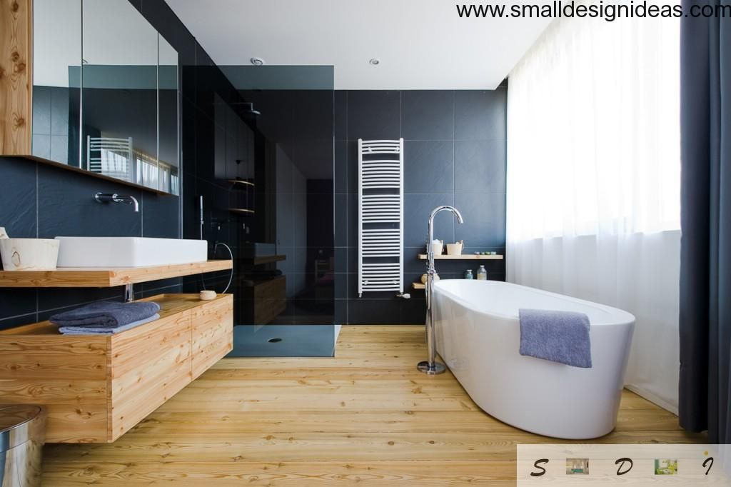 Wooden interior bath design
