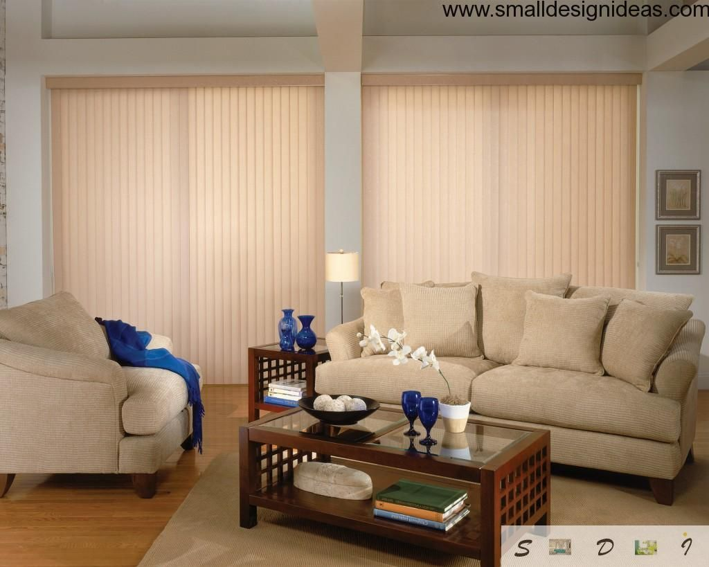 Vetical venetian blinds for creation of ambient