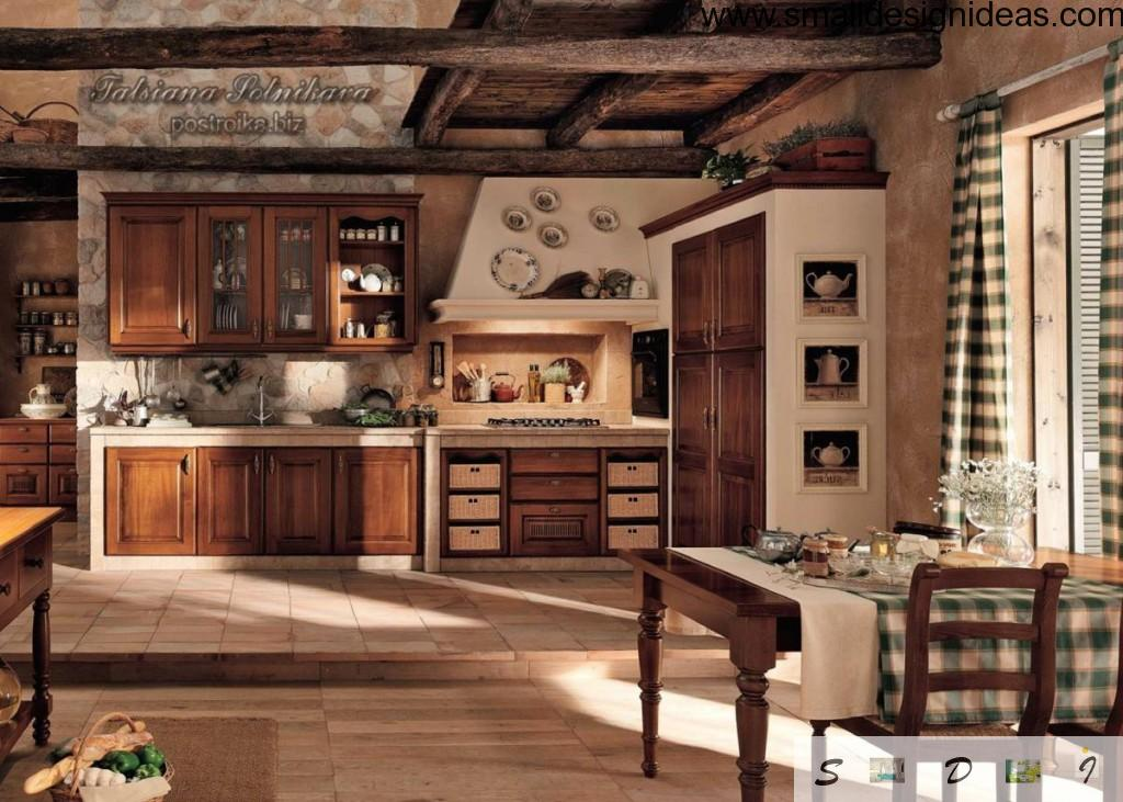 Rustic style in the kitchen interior design