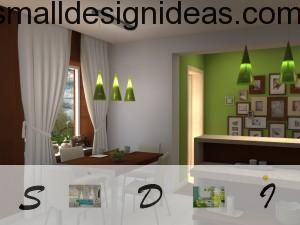 Green interior kitchen design