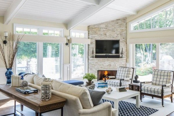 Country House Marine style design Living room