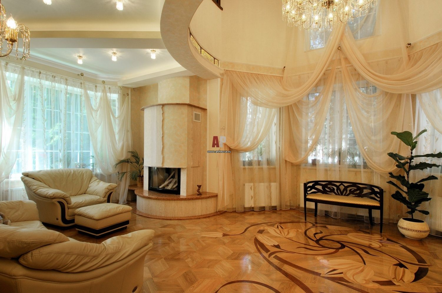 Modern Living Room Is A Creative Solution For Traditional Environment