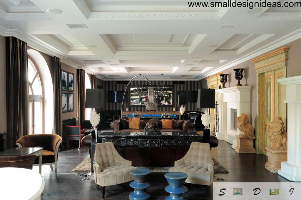 Luxurious English style interior for celebrities and other big shots