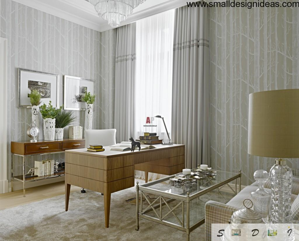 Modern nature wallpaper at the sudy room