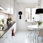 Modern Home Kitchen Interior in Scandinavian style